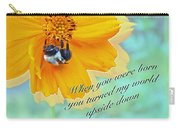 Child Birthday Greeting From Parent Parents - Cosmos And Bumblebee Carry-all Pouch