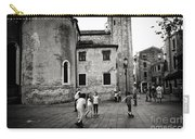 Children At Play In A Venice Piazza Carry-all Pouch