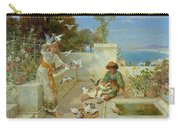 Children By The Mediterranean  Carry-all Pouch