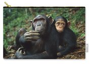 Chimpanzee Adult Female With Orphan Baby Carry-all Pouch