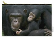Chimpanzee Female Holding Infant Carry-all Pouch