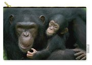 Chimpanzee Pan Troglodytes Adult Female Carry-all Pouch