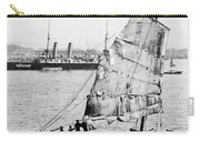 Chinese Junk Ship And British Battleship In Hong Kong - C 1902  Carry-all Pouch
