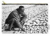 Chinese Man Drying Fish On The Shore - C 1902 Carry-all Pouch