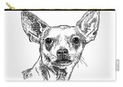 Chiwawa-portrait-drawing Carry-all Pouch