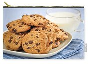 Chocolate Chip Cookies And Milk Carry-all Pouch by Elena Elisseeva