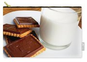 Chocolate Coated Butter Cookies And Milk Carry-all Pouch