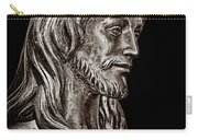 Christ In Bronze - Bw Carry-all Pouch
