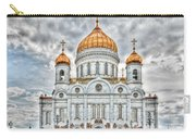 Christ The Saviour Cathedral In Moscow. The Main Entrance Carry-all Pouch
