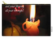 Christmas Candle Peace Greeting  Carry-all Pouch