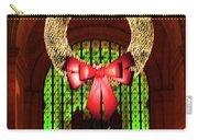 Christmas Card Wreath Color Carry-all Pouch