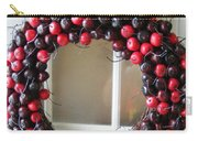 Christmas Cherry Wreath Carry-all Pouch