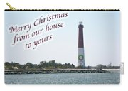 Christmas Lighthouse Card - From Our House To Yours Card Carry-all Pouch