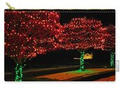 Christmas Lights Red And Green Carry-all Pouch
