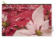 Christmas Poinsettias Carry-all Pouch