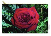 Christmas Rose Carry-all Pouch by Mariola Bitner