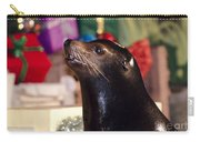 Christmas Sea Lion Carry-all Pouch