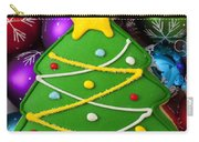 Christmas Tree Cookie With Ornaments Carry-all Pouch