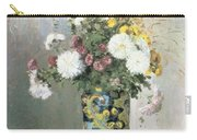 Chrysanthemums In A Chinese Vase Carry-all Pouch by Camille Pissarro