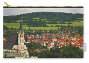 Church Spire In The Old Town Cesky Carry-all Pouch