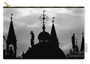 Church Spires Silhouetted Bw Carry-all Pouch