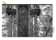 Church Window And Vines Bw Carry-all Pouch