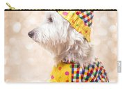 Circus Clown Dog Carry-all Pouch by Edward Fielding