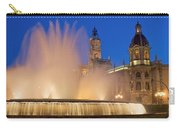 City Hall And Fountain At Dusk Carry-all Pouch
