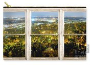 City Lights White Rustic Picture Window Frame Photo Art View Carry-all Pouch
