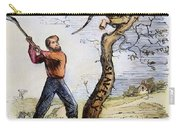 Civil War Cartoon, 1862 Carry-all Pouch by Granger