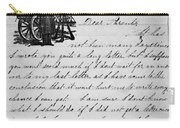 Civil War: Letter, 1862 Carry-all Pouch