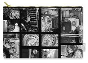 Classic Car Collage In Black And White Carry-all Pouch