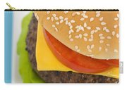 Classic Hamburger With Cheese Tomato And Salad Carry-all Pouch