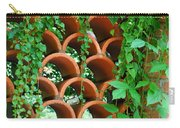 Clay Pattern Wall With Vines Carry-all Pouch