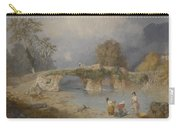 Clearing Up For Fine Weather Beddgelert North Wales 1867 Carry-all Pouch