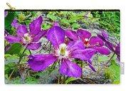 Clematis Abby Aldrich Rockefeller Garden Carry-all Pouch