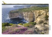 Cliffs Along Ocean With Wildflowers Carry-all Pouch