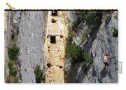 Climber Near Prehistoric Cliff Dwelling Carry-all Pouch