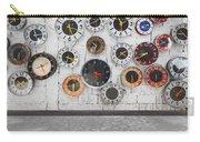 Clocks On The Wall Carry-all Pouch by Setsiri Silapasuwanchai