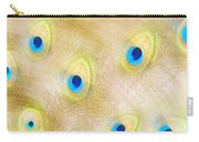 Close Up Of A Peacock Tail Carry-all Pouch