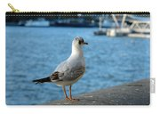 Close Up Of A Tern Next To The Thames And London Eye Carry-all Pouch