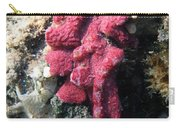 Close-up Of Live Sponge Carry-all Pouch