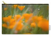 Close Up Of Orange Poppy Flowers Carry-all Pouch