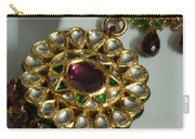 Close Up Of The Gold And Diamond Setting Of A Large Necklace Carry-all Pouch by Ashish Agarwal