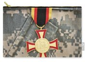Close-up View Of A German Gold Cross Carry-all Pouch