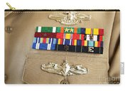 Close-up View Of Military Decorations Carry-all Pouch