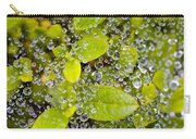 Closeup Of Morning Dew On Leaves Carry-all Pouch