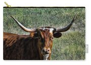 Closeup Of Texas Longhorn Carry-all Pouch