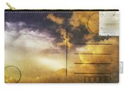 Cloud In Sunset On Postcard Carry-all Pouch by Setsiri Silapasuwanchai