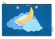 Cloud Moon And Stars Design Carry-all Pouch